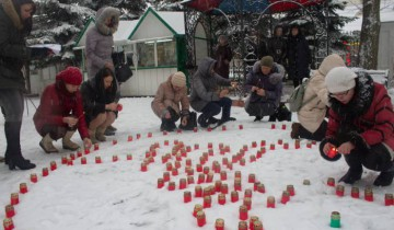 Акция «Свеча памяти – свеча надежды». Фото: uspenie.by