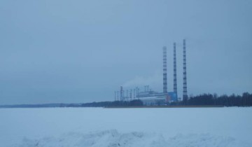 Лукомльская ГРЭС. Вид с озера. Фото Анастасии Вереск