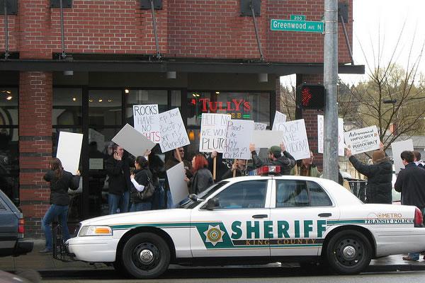 Акции протеста в Америке. Фото semislov.livejournal.com