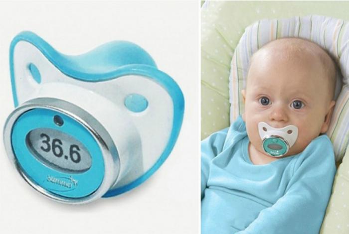 Электронный термометр-соска облегчит жизнь родителям. Фото novate.ru