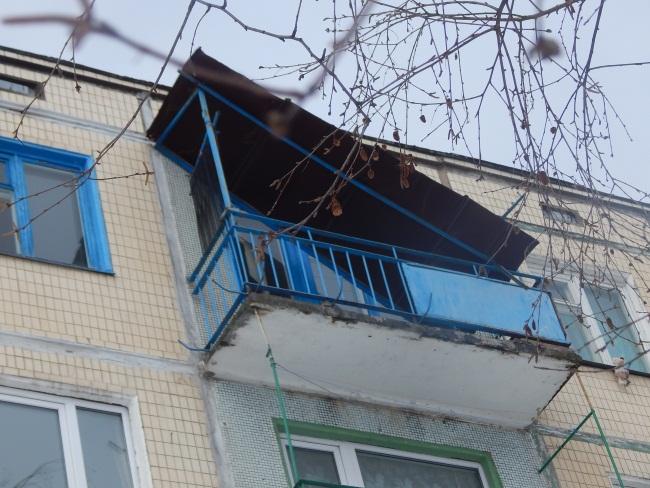 балкон обрушился