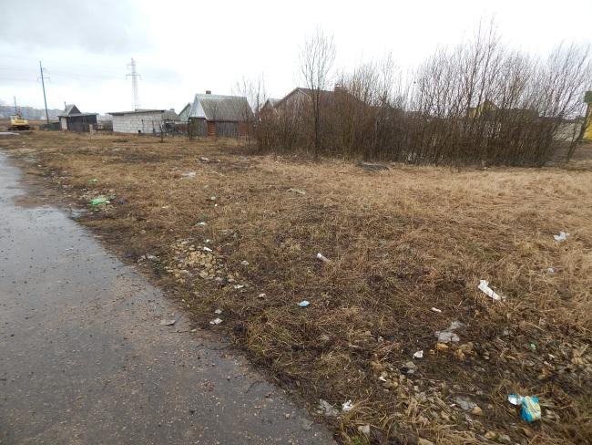 улица счастливая, Витебск, мусор, мусор на окраине города