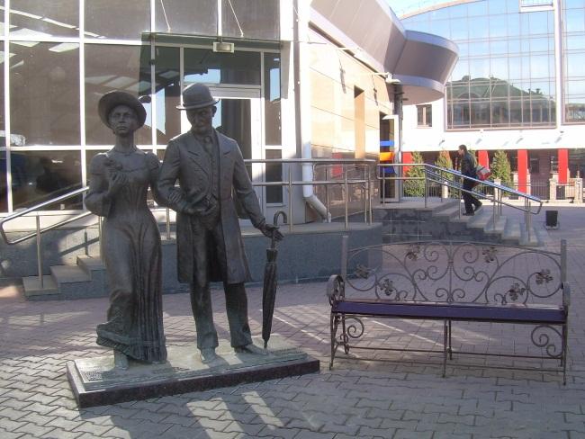 скульптура, вокзал, встреча на вокзале витебска