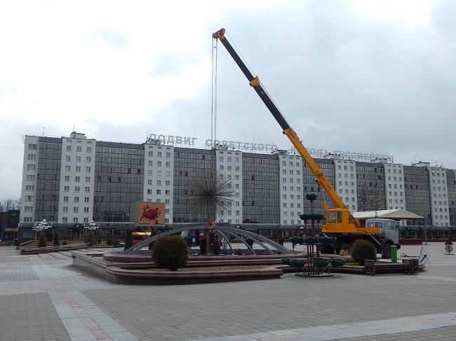 фонтаны, витебск, площадь победы
