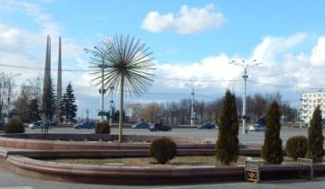 фонтан, площадь победы, витебск
