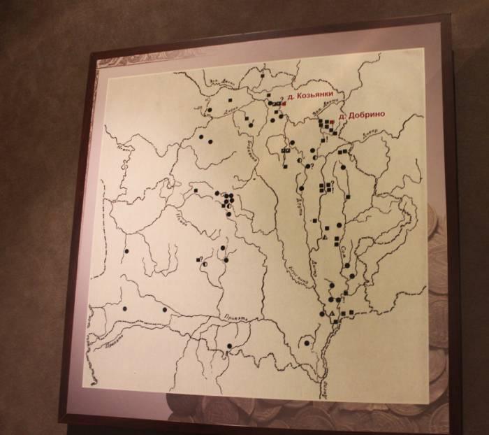 ратуша, выставка кладов, карта