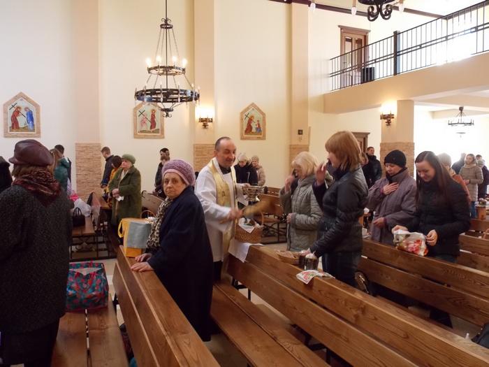Пасха, католичество, освящение, Корженевский