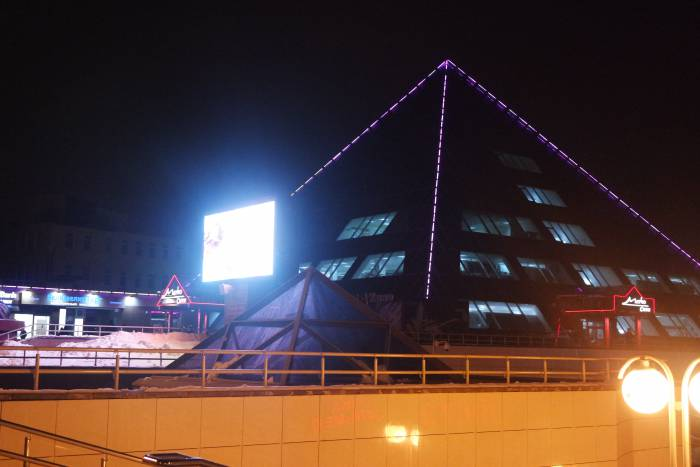 Аномальная пирамида аномальным витебским вечером. Фото Анастасии Вереск