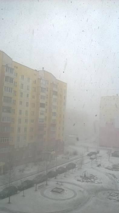 Снег на ул. Правды. Фото Анастасии Вереск