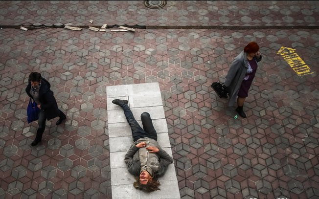 Суета и спокойствие улицы Ленина. Фото Сергей Гудилин. nn.by