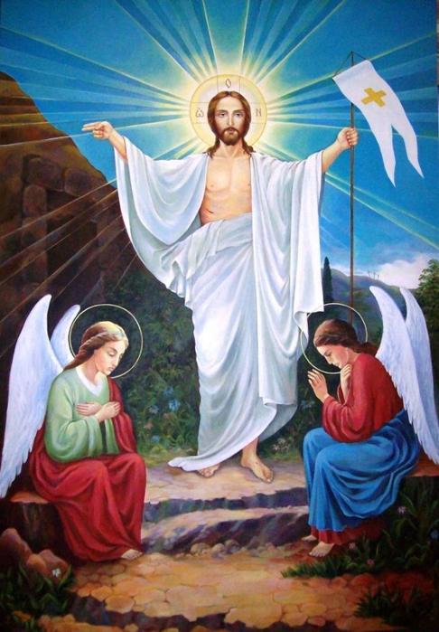 христово воскресение, пасха, икона Христа