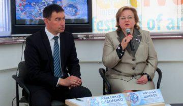 На пресс-конференции, посвященной «Славянскому базару в Витебске». Фото: Аля Покровская