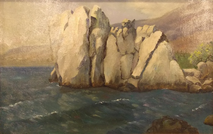 Ковалёв, живопись, пейзаж, скалы, море, Корженевский