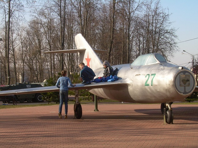 парк победителей, витебск, самолеты