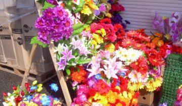 искусственные цветы, полоцкий рынок