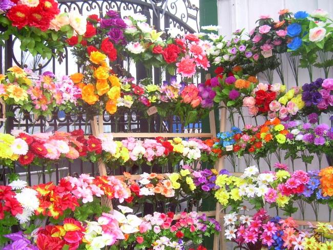 искусственные цветы, центральный рынок