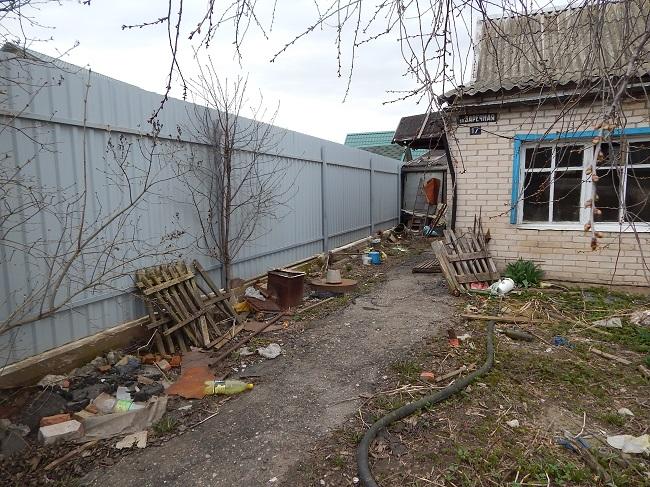 улица Заречная, мусор, поселок тарный