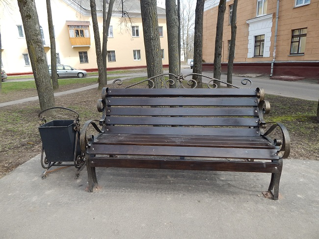 лавочка, скамейка, неисправная лавочка