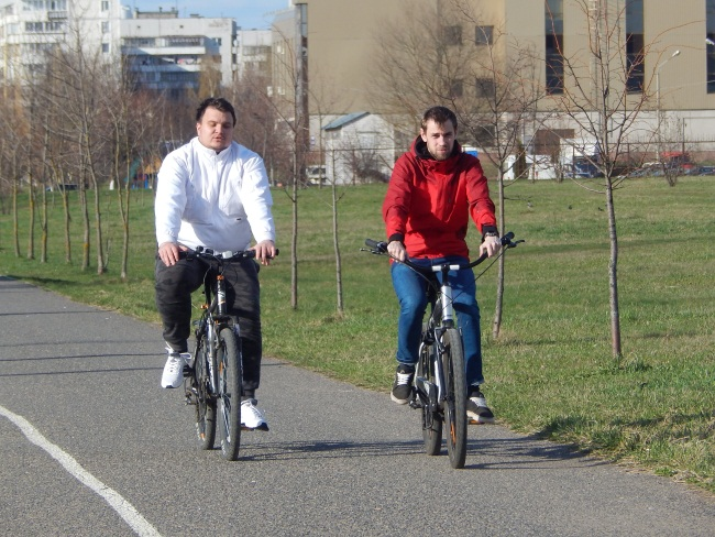 велоспорт, велодорожки у Ледового дворца,