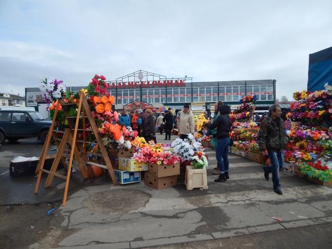 искусственные цветы, смоленский рынок