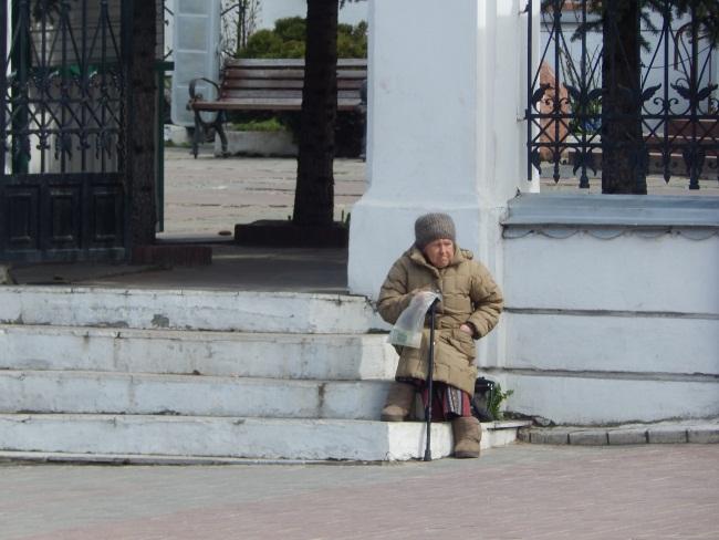 нищие в Витебске, попрошайки,