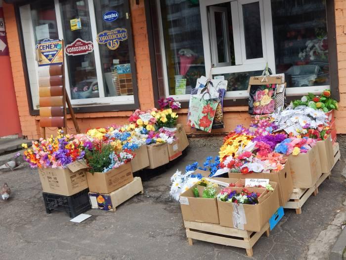 искусственные цветы, южный рынок