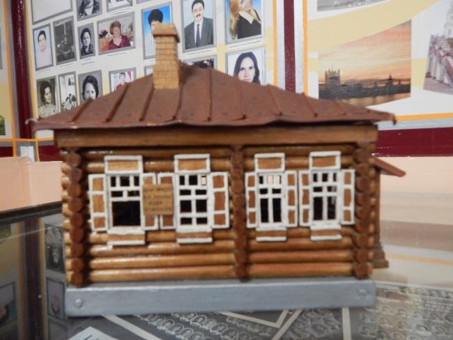 ленин, макет дома в шушенском