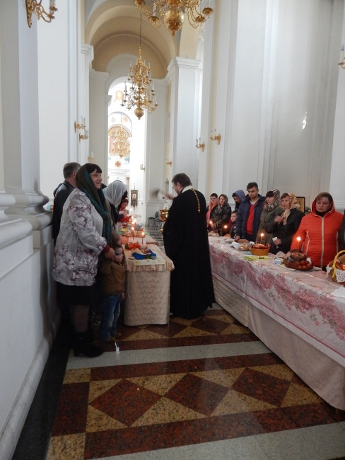 куличи, свято-успенский собор, освящение