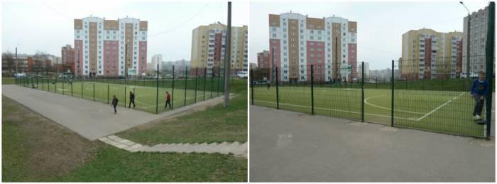 Футбольное поле гимназия №8