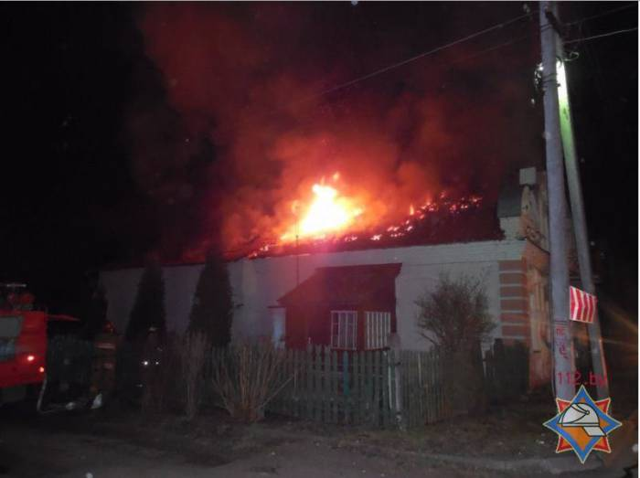 пожар в Полоцке