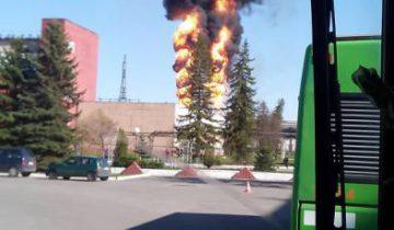 пожар на полимире