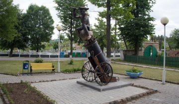 Памятник Мюнхгаузену в Глубоком. Фото kraj.by
