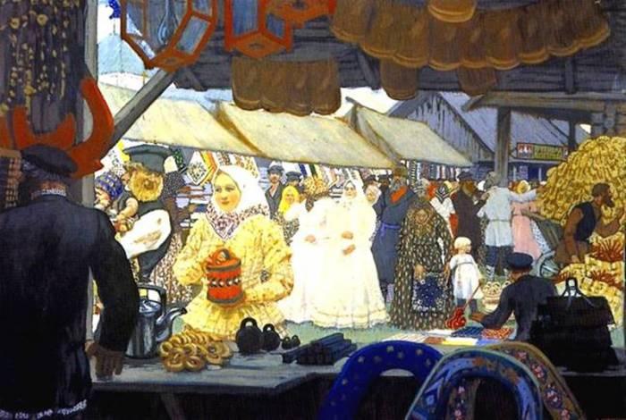 Ярмарка. Картина Бориса Кустодиева. Фото dedale.ru