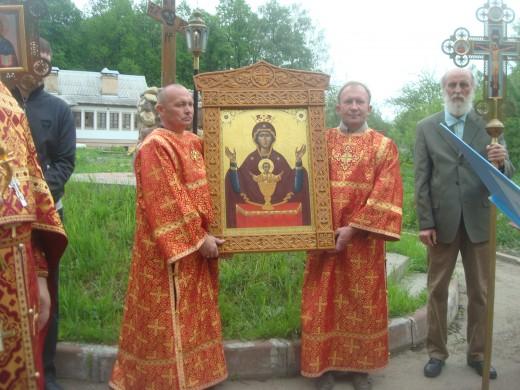 Праздничные богослужения в честь иконы. Фото klin-deminova.ru