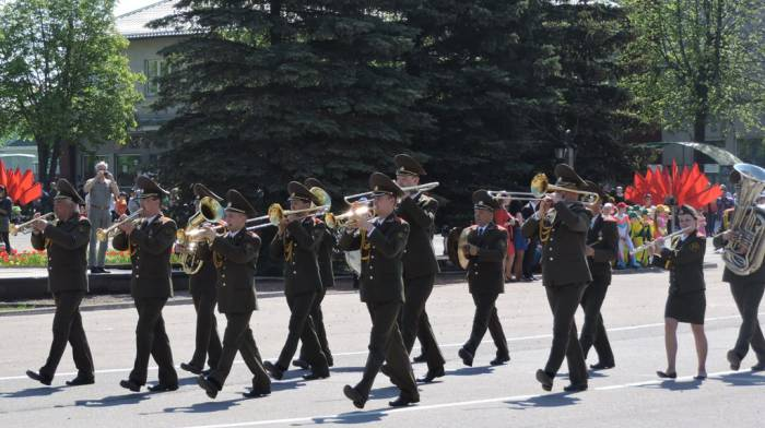 лепель, день победы, духовой оркестр