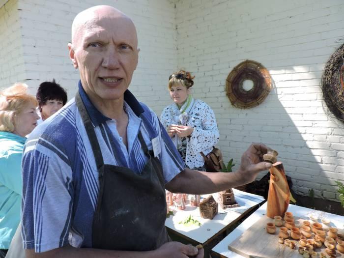 Міхась Зінькоў, майстар-клас па дрэве