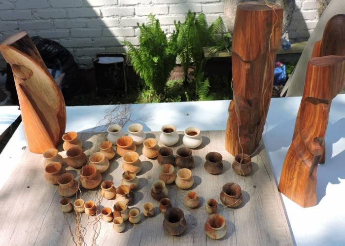 шаптункі, вырабы з дрэва