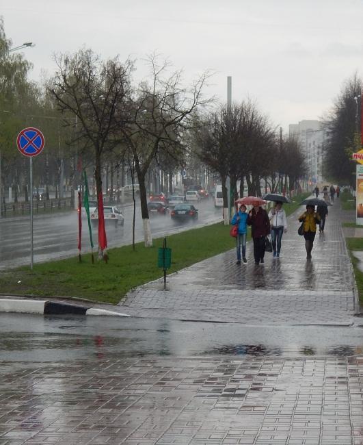 дождь в витебске, московский проспект