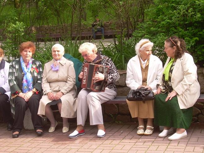 гармонь, парк фрунзе, пенсионеры