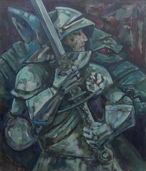 волк, рыцарь, тотем, тотемизм, Васильев, живопись, Корженевский