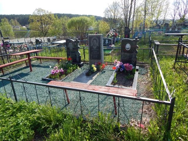 лучосское кладбище, могила ухоженная