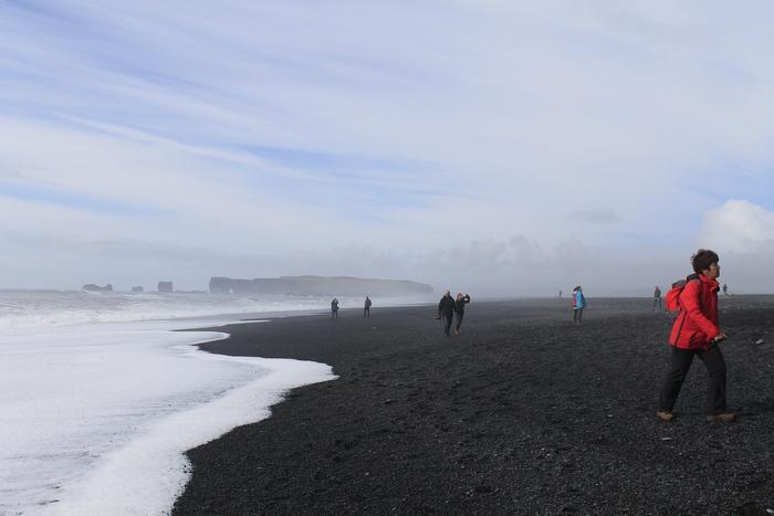 пляж, океан, Исландия, Корженевский