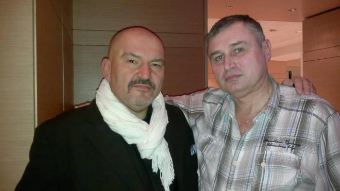 Геннадий Венгеров с нашим корреспондентом Павлом Левиновым. Дюссельдорф, декабрь 2011 года