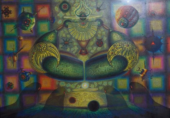 Вселенский, трон, космос, живопись, Корженевский