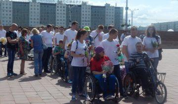 инвалиды-колясочники, площадь победы