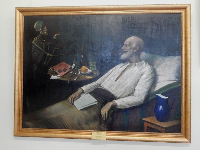 старик и смерть, картины юрия пэна