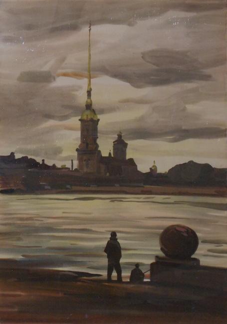 Петропавловка, Санкт-Петербург, Ленинград, Гумен, акврель, Корженевский