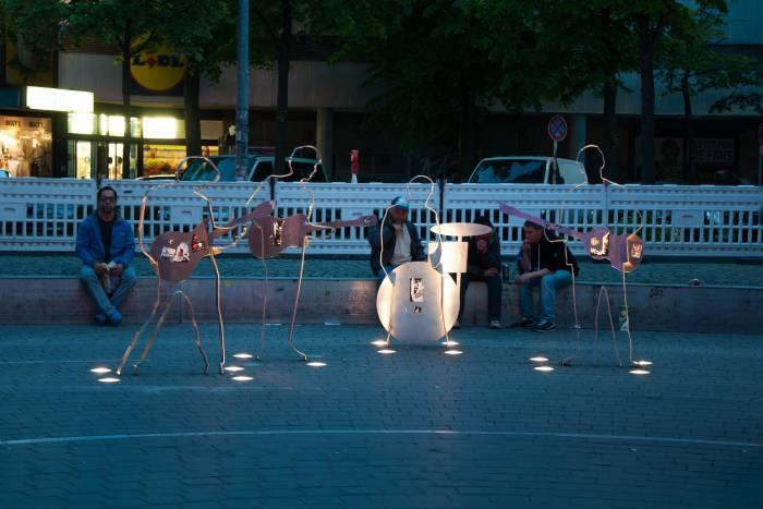"""Памятник """"битлам"""" в Гамбурге. Фото Анастасии Вереск"""