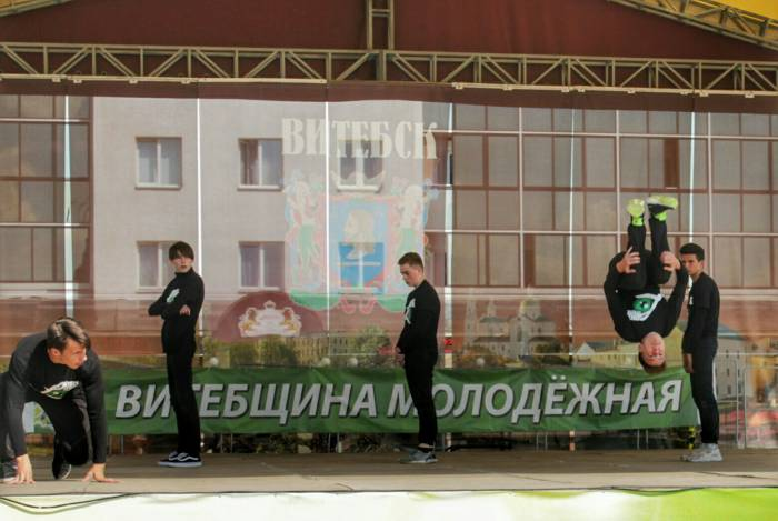 Огонь танца, танец, площадь Победы, молодежь