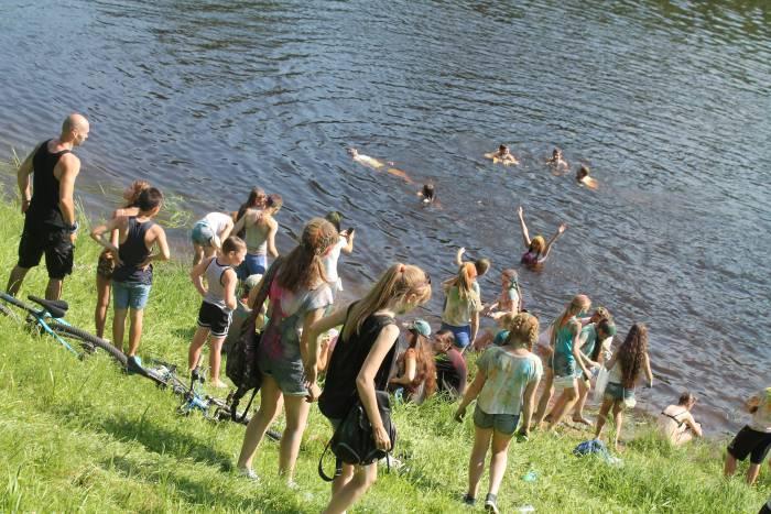река, лето, жара, холи